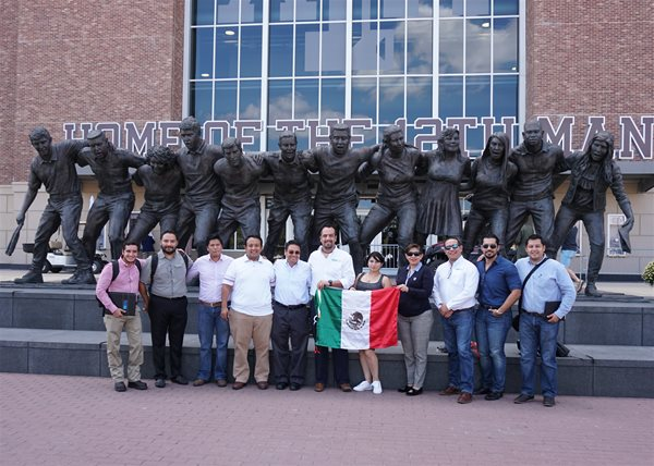 Visiting Mexican professionals explore TAMU Kyle Field