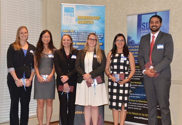 Society for Underwater Technology Scholarship Recipients 2017
